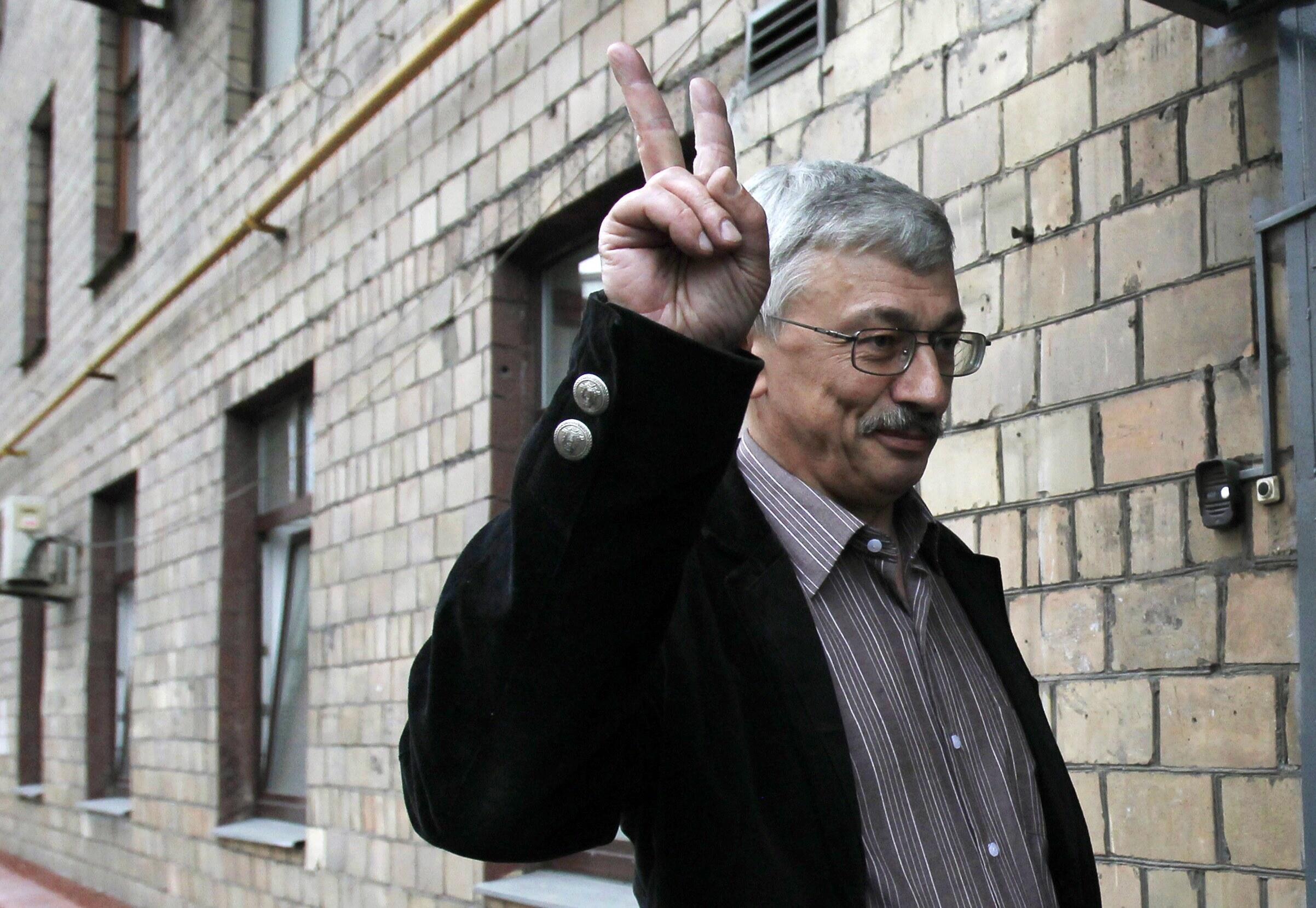 Правозащитник Олег Орлов, Москва, 14 июня 2011