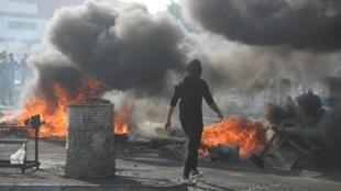 Des affrontements dans la ville de Nassiriya, le 28 novembre 2019.