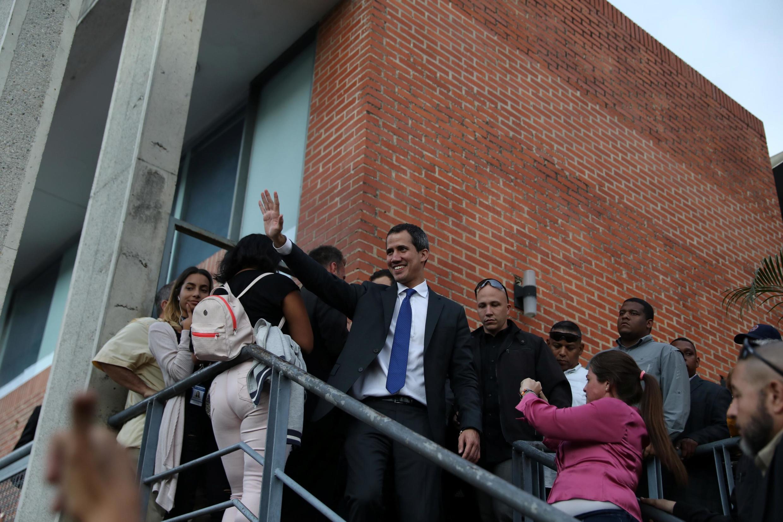 L'opposant vénézuélien Juan Guaido à Caracas le 7 janvier 2020.
