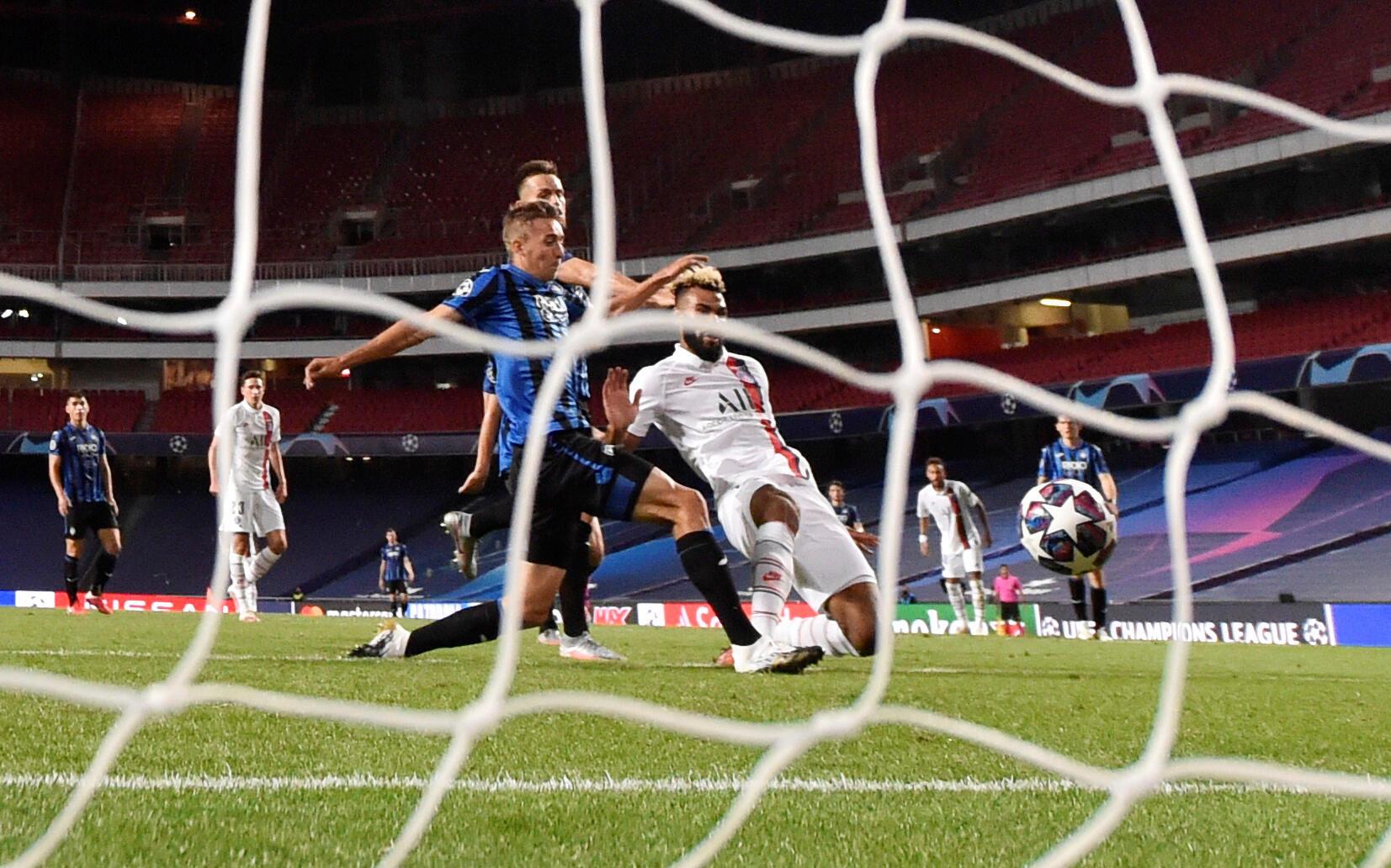 Eric Choupo-Moting scored Paris Saint-Germain's winner in stoppage time against Atalanta.