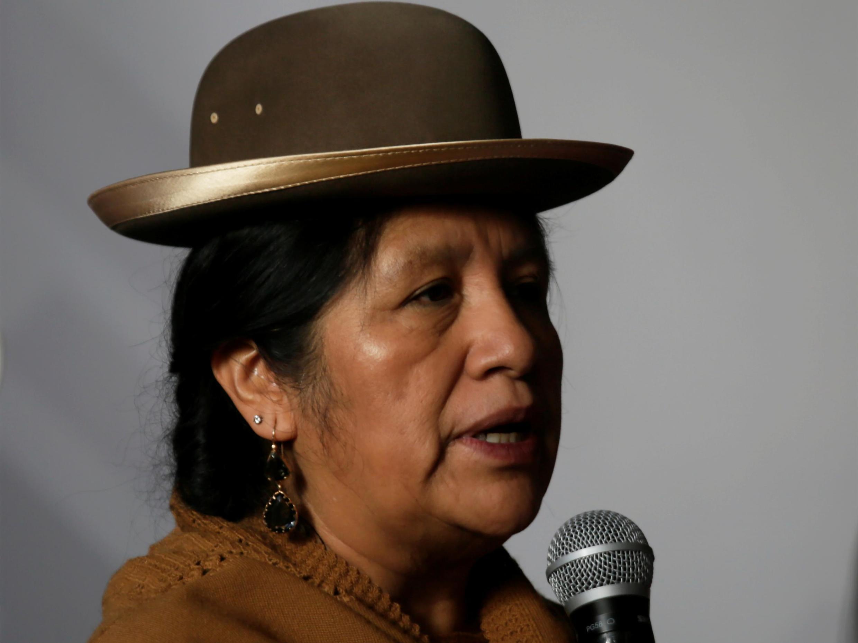 La présidente du Tribunal suprême électoral de Bolivie, Maria Eugenia Choque, le jour de l'élection présidentielle, à La Paz, le 20 octobre 2019.