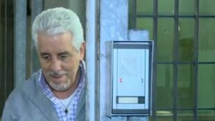 Reprodução vídeo do ex-diretor de marketing do Banco do Brasil Henrique Pizzolato, condenado em 2013 no julgamento do mensalão.