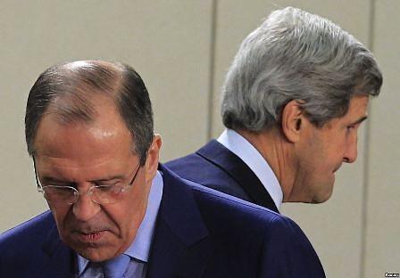 Главы МИД России и США Сергей Лавров и Джон Керри