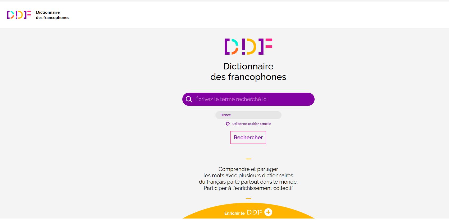 Captureécran dico des francophones