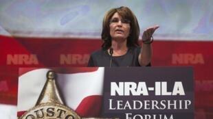 Sarah Palin à la convention annuelle de la NRA à Houston, le 3 mai 2013.