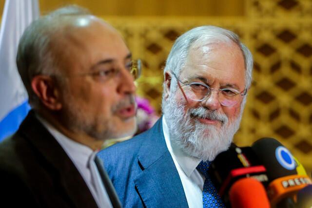 نشست خبری کمیسر انرژی اروپا و علی اکبر صالحی