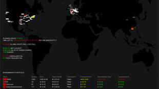 Capture d'écran des résultats boursiers du robot ADM 8.