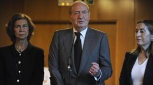 O rei Juan Carlos da Espanha durante vista ao hospital universitário de Santiago de Compostela, em imagem do dia 25 de julho de 2013; seu porta-voz informou que ele não teve nada a ver com a libertação do pedófilo espanhol preso no Marrocos.