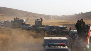 Las fuerzas kurdas avanzan en el sureste de Mosul, en Irak, el pasado 14 de agosto de 2016.