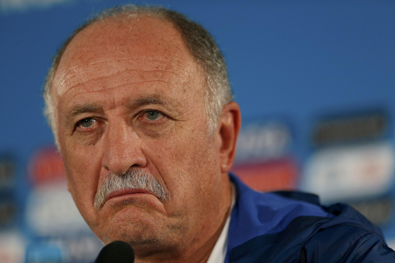 Luiz Felipe Scolari, treinador não quis falar sobre seu futuro à frente da seleção brasileira.