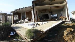 O estado do Alabama foi um dos mais atingidos pelas tempestades que castigam o sudeste dos Estados Unidos