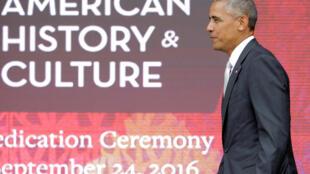 O presidente Barack Obama durante a inauguração do museu afro-americano, em setembro, em Washington.