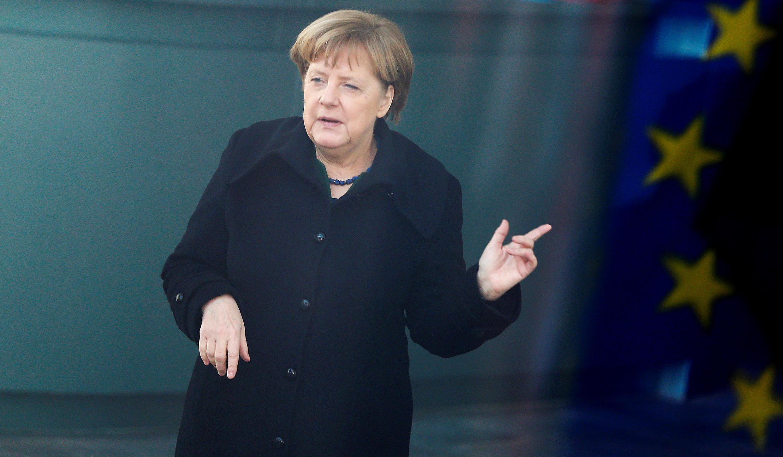 圖為德國在任總理默克爾