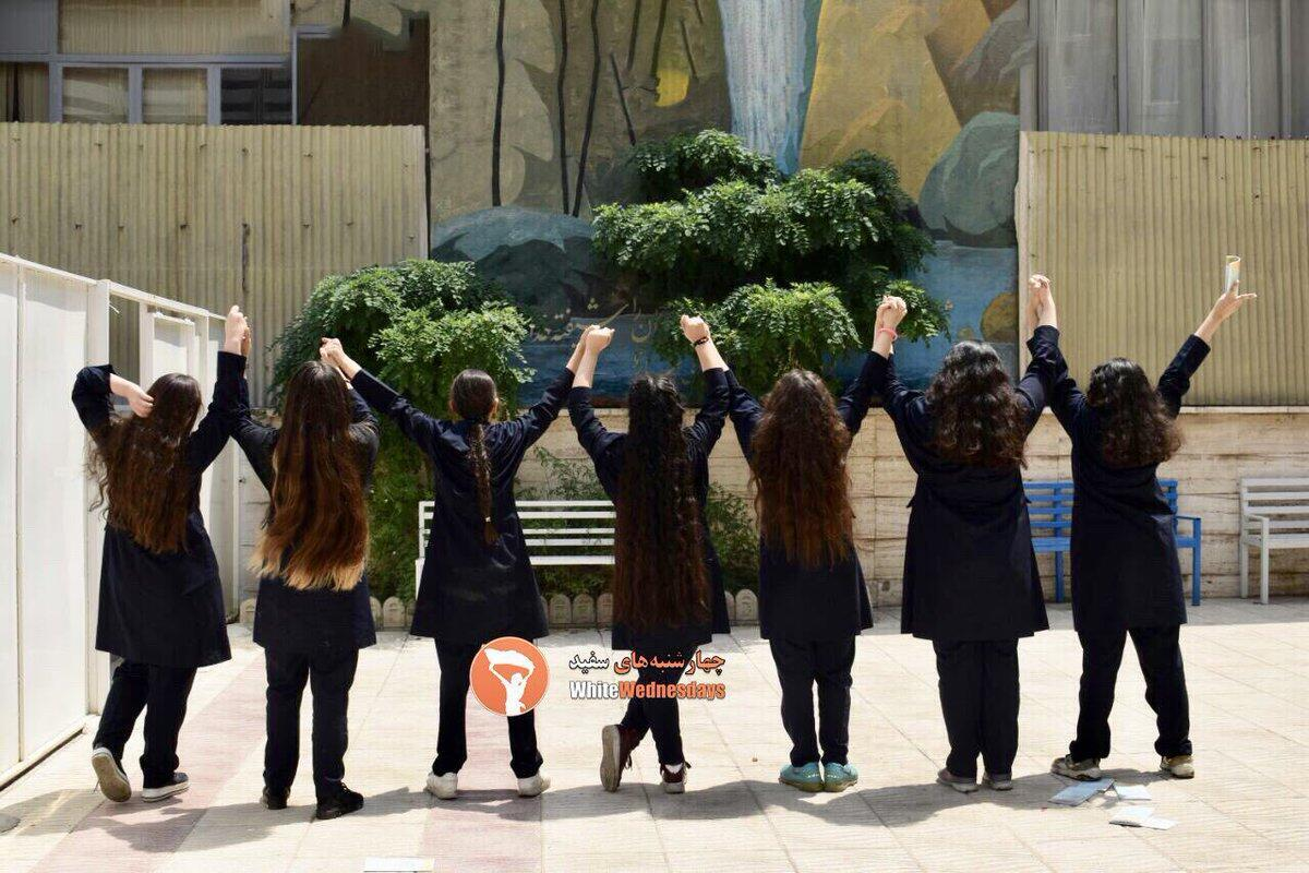 Students participating in the movement against obligatory hijab