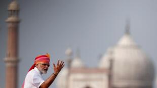 Thủ tướng Ấn Narendra Modi phát biểu tại Pháo Đài Đỏ, New Delhi, ngày 15/08/2016.
