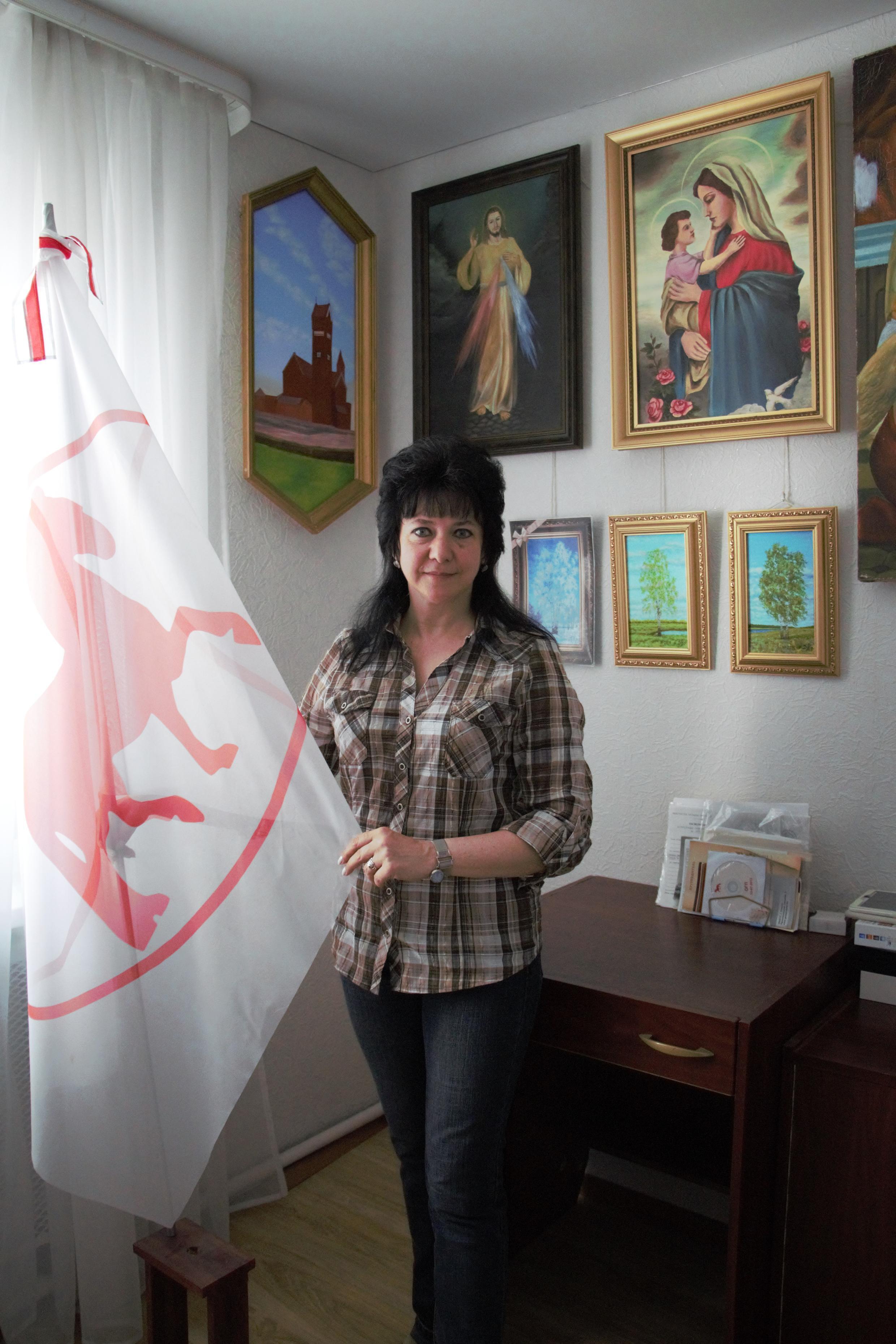 Irina Davidovitch, artiste-peintre et opposante au régime de Loukachenko. Elle est persuadée qu'il y aura de nouvelles manifestations.