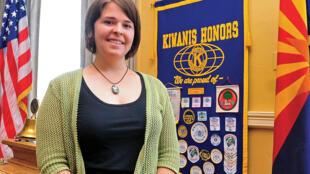 Kayla Mueller bị bắt cóc trong lúc cô đang hoạt động nhân đạo tại Syria / AFP - MATT HINSHAW