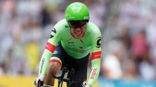 El ciclista colombiano Rigoberto Uran. 22 de julio de 2017.