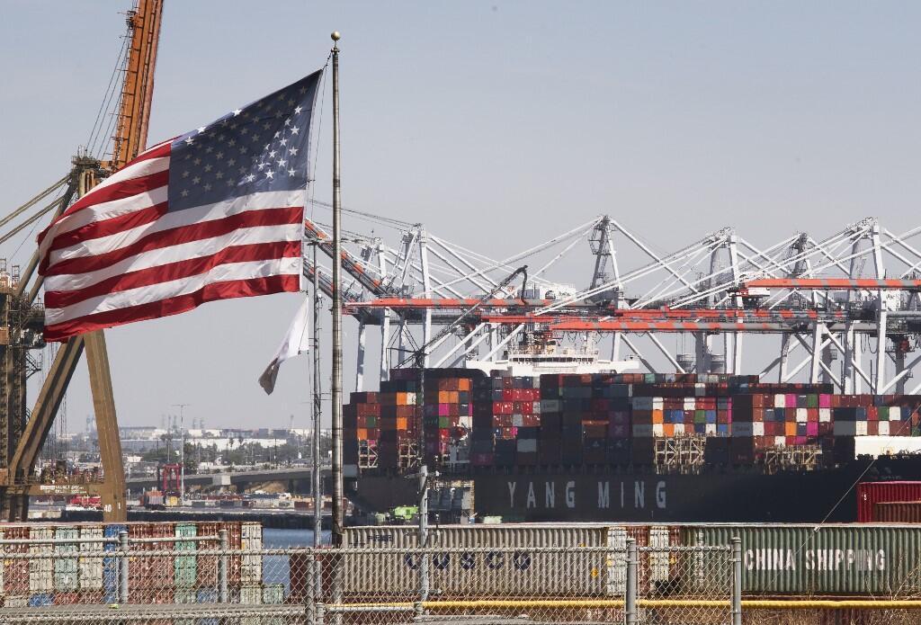 Tàu chở hàng nhập khẩu từ Trung Quốc đến cảng Los Angeles ngày 14/09/2019.