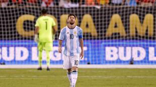 Lokacin da Lionel Messi ya barar da bugun fanareti a wasansu da Chile a gasar Copa America