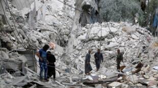 Le quartier de Tariq al-Bab à Alep a connu d'intenses bombardements ces derniers jours.