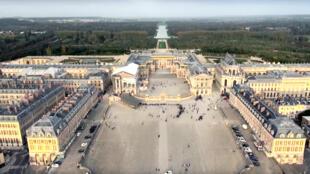 Le château de Versailles (vu du ciel par un drone) accueille ce lundi un mini-sommet destiné à donner un nouveau souffle à l'Union européenne.  .