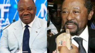 阿里-邦戈Ali Bongo Ondimba (左) - 讓-平Jean Ping (右)