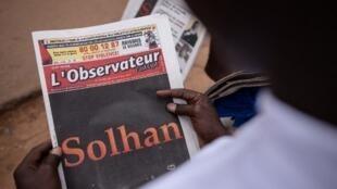 L'attaque de Solhan, la plus meurtrière au Burkina Faso depuis 2015, fait la Une de «L'Observateur Paalga». Ouagadougou, le 7 juin 2021.