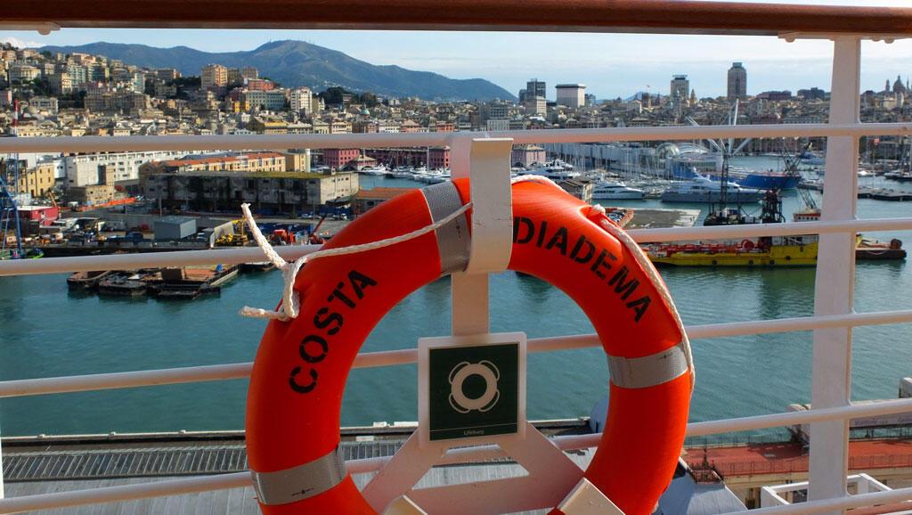 Costa Diadema vue du pont.