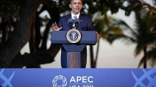O presidente norte-americano, Barack Obama, discursou em Honolulu, no Havaí, neste domingo.