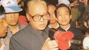 赵紫阳1989年在天安门广场照片