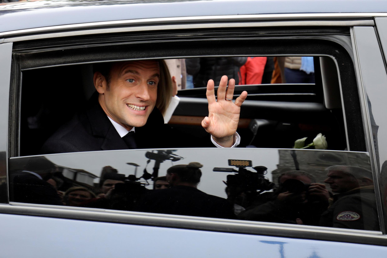 法國總統馬克龍與夫人5月26日前往Le Touquet投票。