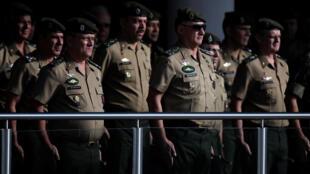 Le général Edson Leal Pujol lors d'une cérémonie marquant le 55e anniversaire du coup d'Etat militaire de 1964, le 29 mars 2019 à Brasilia.