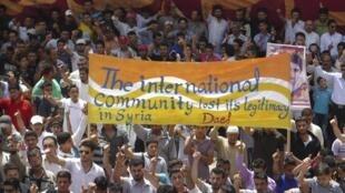 Biểu tình chống tổng thống Syria ở Dael, gần Deraa, 11/05/2012
