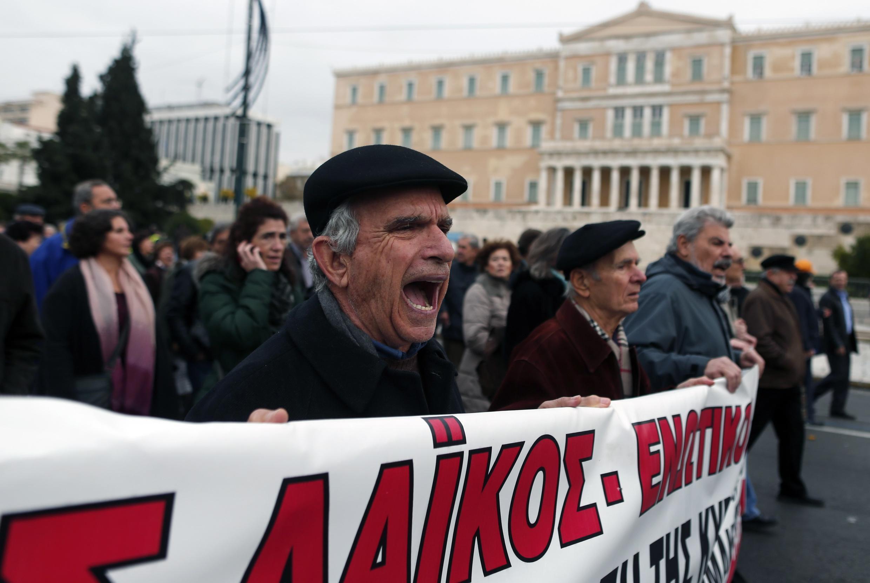 Manifestation contre l'austérité, à Athènes, le 27 novembre 2014.