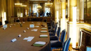 La salle du conseil des ministres à l'Elysée.