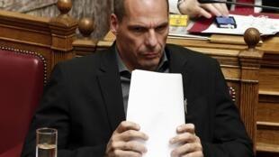 O minsitro grego das Finanças, Yanis Varoufakis.