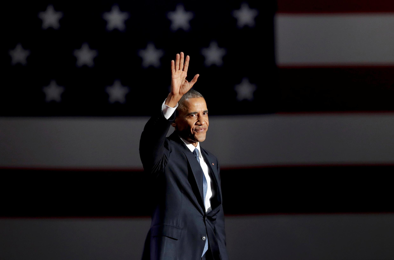Barack Obama en el discurso de despedida en Chicago, Estados Unidos. Martes, 10 de enero de 2017.