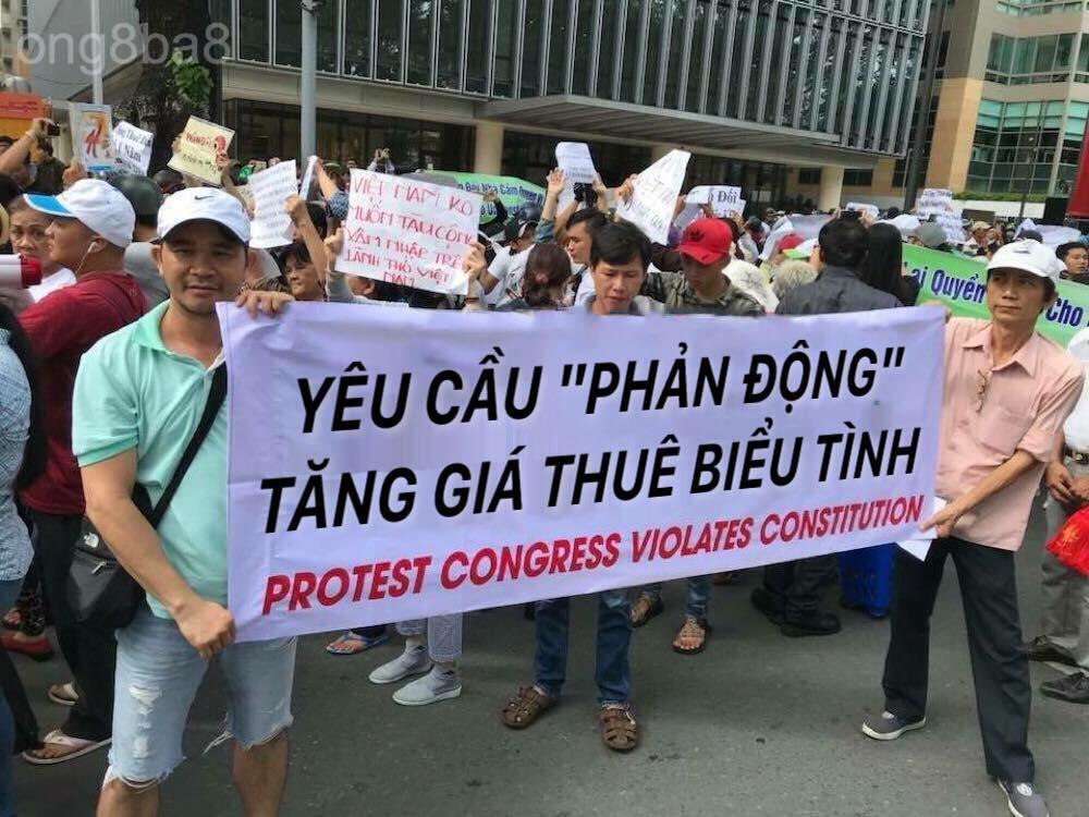 Biểu tình tại Saigon ngày 10/06/2018 phản đối dự luật Đặc khu.