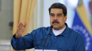 Tổng thống Venezuela Nicolas Maduro trong cuộc họp chính phủ, Caracas, ngày 13/02/2019