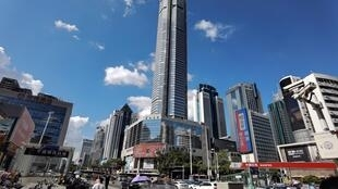 The 300-metre SEG Plaza in Shenzhen began shaking on Tuesday, prompting people inside and those on the streets below to flee