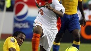Le Nigérien Amadou Moutari lors de Gabon-Niger.