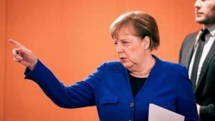 A chanceler Angela Merkel em Berlim, 13 de maio de 2020.