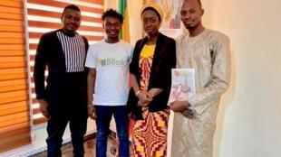 L'équipe de BiBook a été reçu par la ministre de l'Economie numérique, Kamissa Camara, le 6 mars 2020, pour présenter leur application.