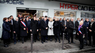 Cerimônia organizada em memória das vítimas do supermercado judeu Hyper Cacher. 07/01/18