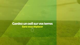 Capture d'écran du site WeFly agri.