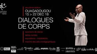 Affiche du Festival Dialogues de Corps.