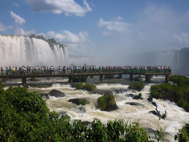 As Cataratas do Iguaçu.