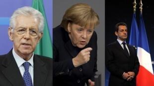 O premiê italiano Mario Monti deve se encontrar nesta quinta-feira com a chanceler alemã Angela Merkel e o presidente francês, Nicolas Sarkozy, para discutir a crise.