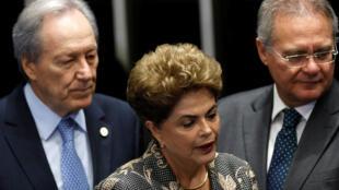 巴西總統羅塞夫在巴西參議院為自己免遭彈劾辯護